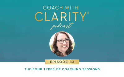 Episode 33: The Four Types of Coaching Sessions